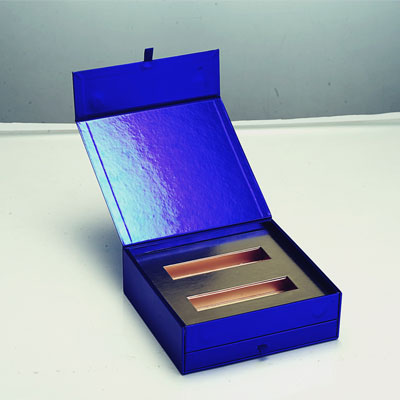 Cosmetic Rigid Box with Mirror and Metallic Caps