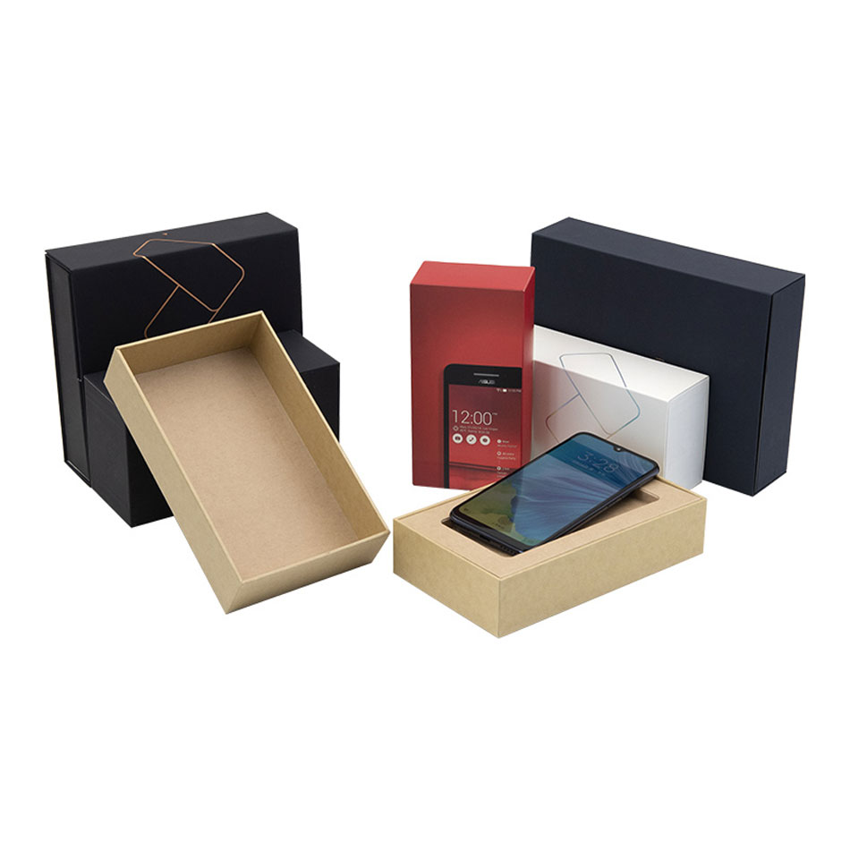 Custom Luxury Black Paper Package Mobile Cell Phone Packaging Boxes