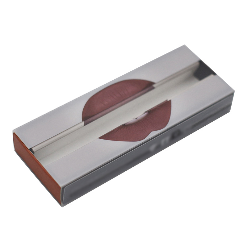 Custom Wholesale Transparent Small Private Label Clear Plastic Drawer Package Box Lip Gloss Packaging
