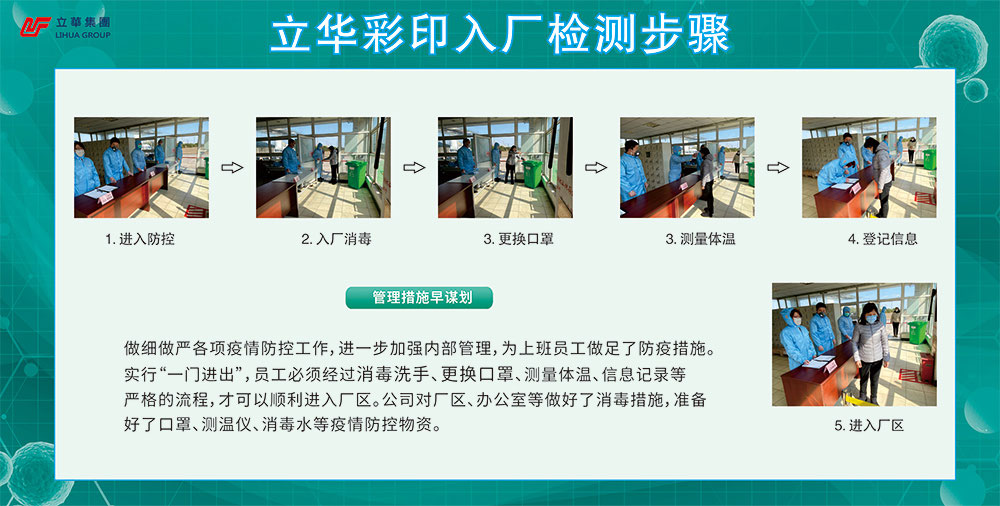 Lihua color printing factory inspection steps