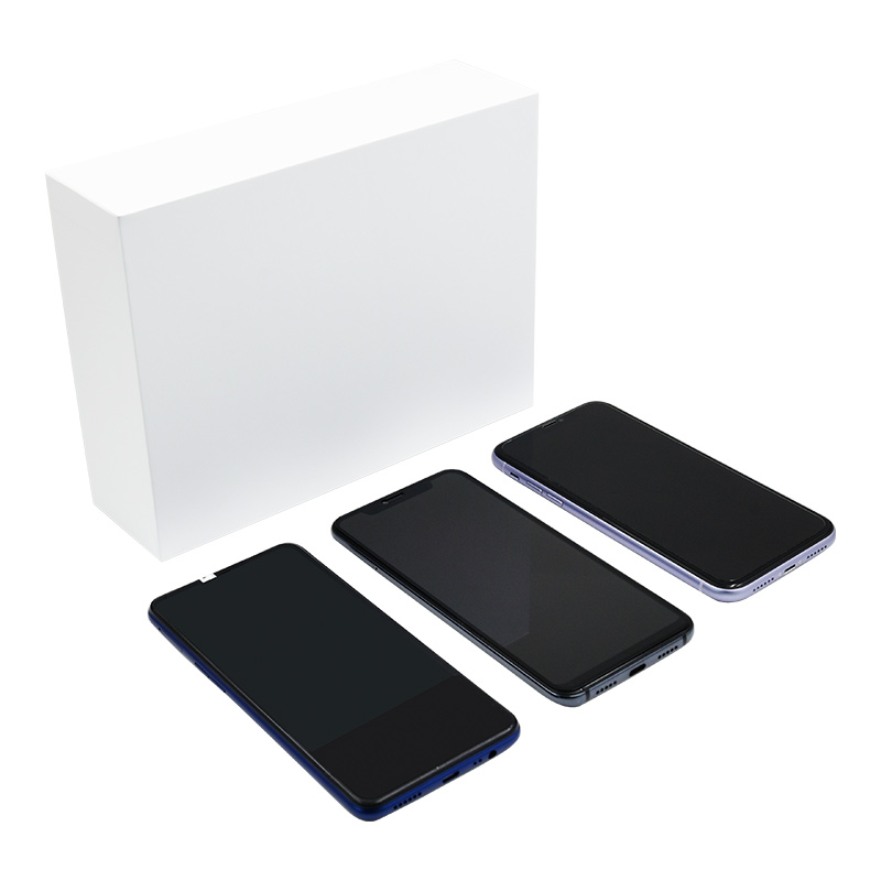 Custom Luxury White Cell Mobile Phone Box Packaging